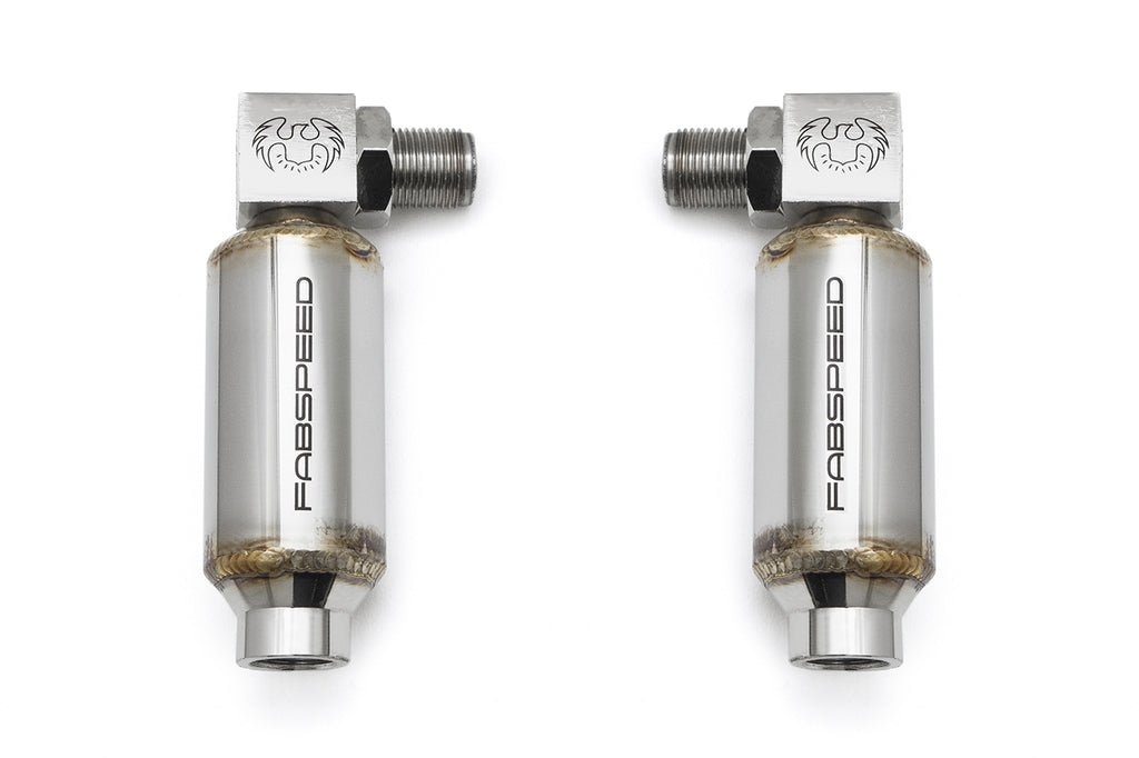 Fabspeed Universal 90 Degree O2 Spacers with Catalytic Converters - Pair