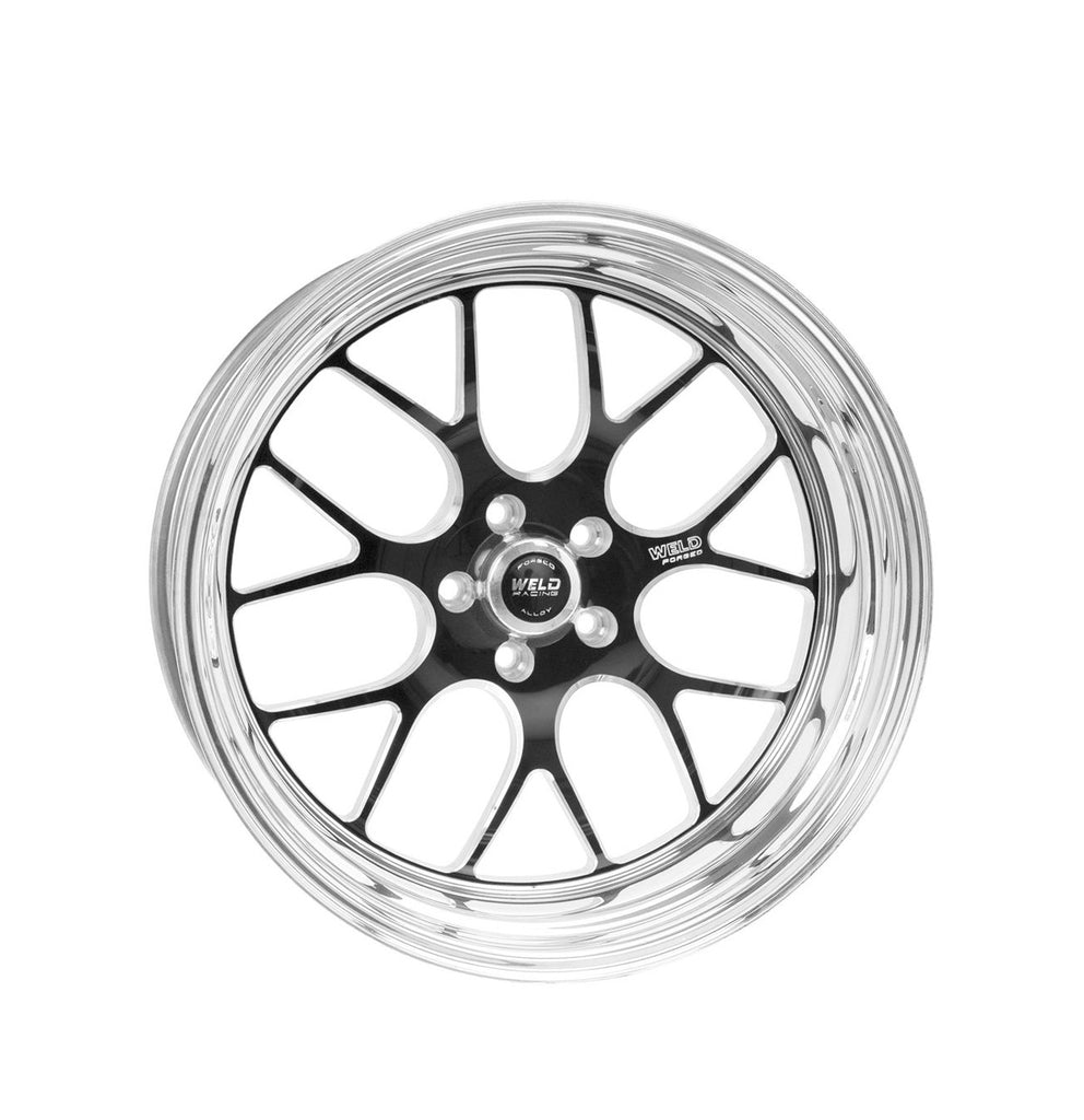 "Weld Wheels RT-S S77 -- 15x10.33 5x4.5 MEDIUM Pad 7.5"" BS +47mm -- Black REAR for Toyota Supra"