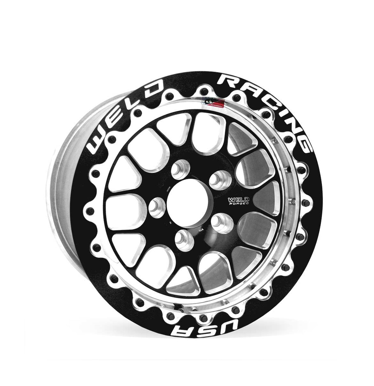 "Weld Wheels RT-S S77 BEADLOCK -- 15x10.33 5x4.5 7.5"" BS +47mm -- Black REAR for Toyota Supra"