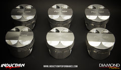 Induction Performance 2JZ Forged Pistons by Diamond Racing -- BLACK FRIDAY