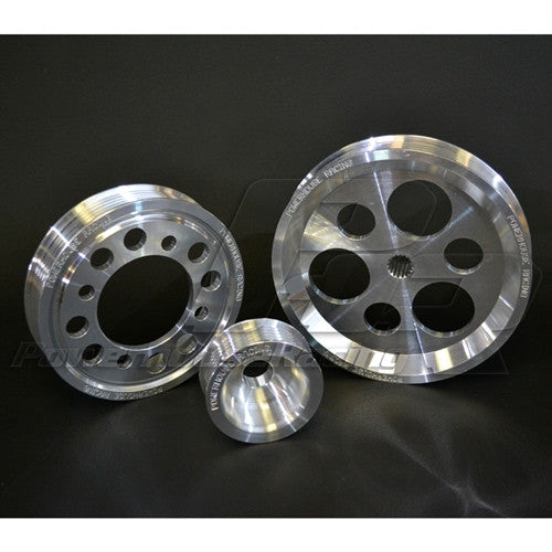 PHR -- Powerhouse Racing 3-Piece Lightweight Billet Pulley Kit for 2JZ-GTE