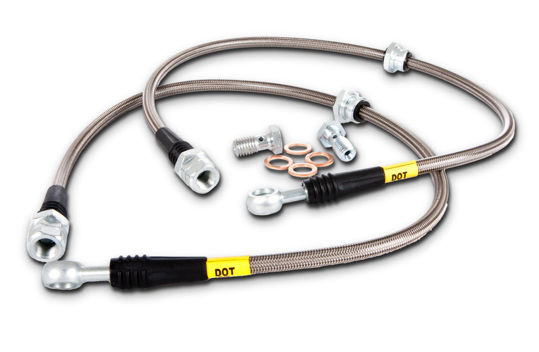 Motors Stoptech Stainless Steel Braided Brake Lines Front & Rear ...