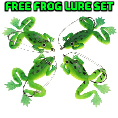 4 pc set Top water Frog Lure With Anti-Weed Hook