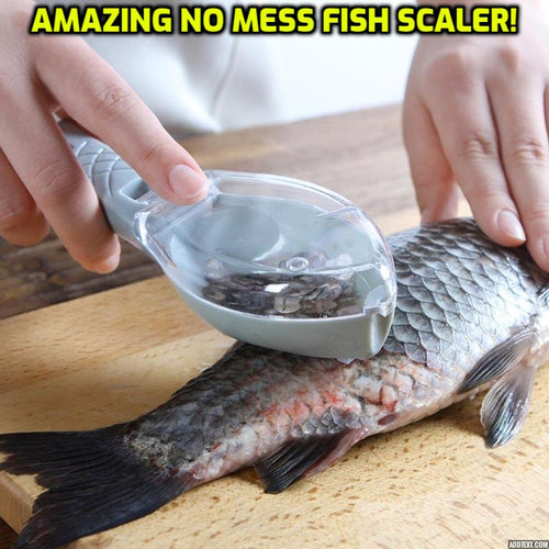 No Mess Fish Scaler