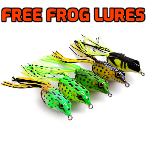 5PC Set 3D Floating Skirt Frog Fishing Lures