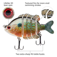 Load image into Gallery viewer, Awesome Life-Like Multi Jointed Swim Baits