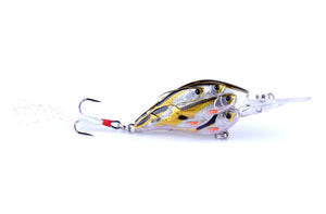 9pc Group Fish Bait Bionic Fishing Lure 7.5CM-9G- # 6 feather hook