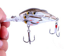 Load image into Gallery viewer, 9pc Group Fish Bait Bionic Fishing Lure 7.5CM-9G- # 6 feather hook