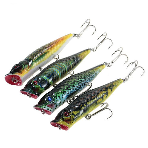 HOT 4PCS Floating Popper Fishing Lures Set