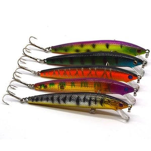 Floating Wobbler Artificial Lures Set For Fishing 5pc Sets