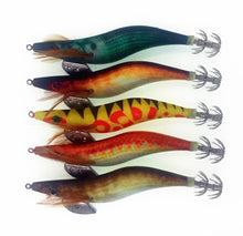 Load image into Gallery viewer, 10Pcs Silicone Shrimp Fishing Lures Luminous Shrimp Squid Jig 10cm 11g
