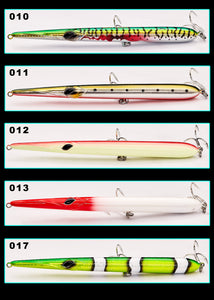 205mm (8.07 in) 31g Floating and 36g Sinking long cast pencil stickbaits lure