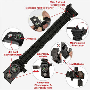 Multi-function Outdoor Survival Bracelets