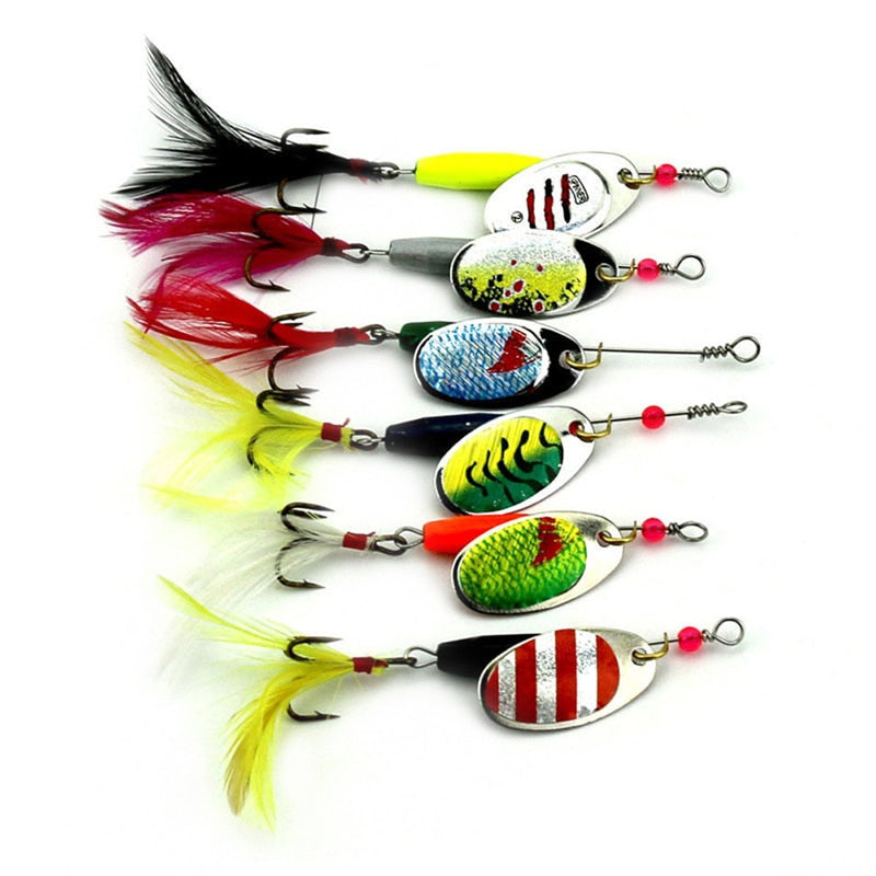 6pc set Spoon Spinner Baits