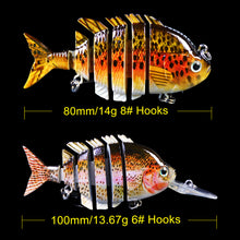 Load image into Gallery viewer, 6pcs/lot Multi Jointed Lifelike Mixed Set Bass Lures
