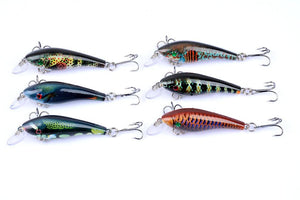 6 pc set 3D Bionic Eyes Bass Bait