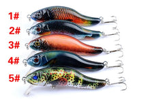 Load image into Gallery viewer, 5PC SET Lifelike Minnow Fishing Lures