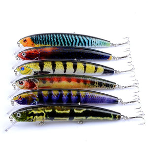 6 pc Set Hard Lifelike Minnow Lures