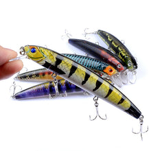 Load image into Gallery viewer, 6 pc Set Hard Lifelike Minnow Lures