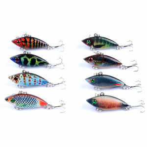 8pc Set Hard Vibrating Lipless Crankbait