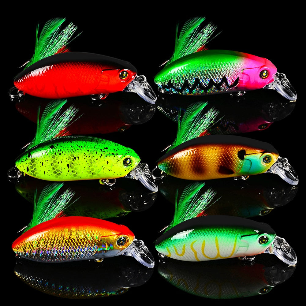 6pc/set Reflective Frizzler Bassbaits