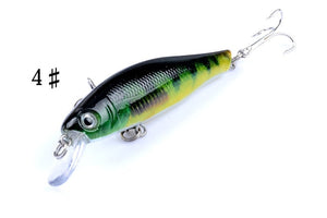 6 pcs/Set Colorful Bionic Skin Minnow Lures