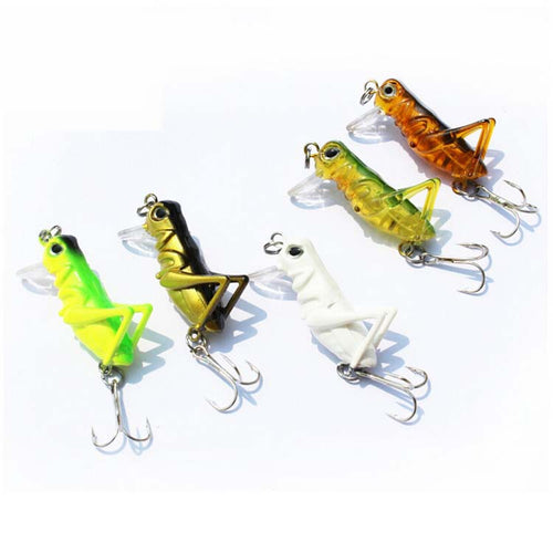 5pc/lot  4cm 3g Grasshopper Fishing Lures Set