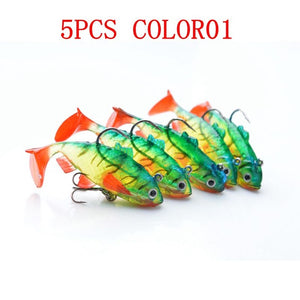 5pcs/lot Soft Bait Lead Head Fish Lures 8g /9.5g