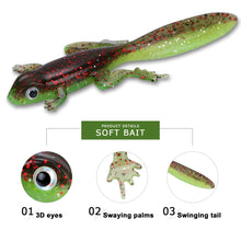 Load image into Gallery viewer, Tadpole Fishing Lure 6pc set Soft Silicone Bait 8cm 3.5g