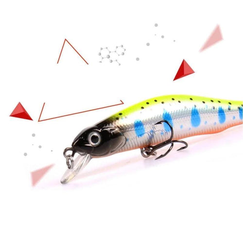 A+ fishing lures, assorted colors, minnow crank  80mm 8.5g,magnet system.