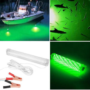 12V 30W 150SMD LED Green Underwater Fishing Lamp With 5M Wire Cable.