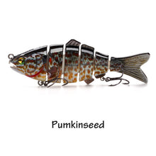 Load image into Gallery viewer, 12cm 31g  6 Segments Multi Jointed Natural Lifelike Swim bait