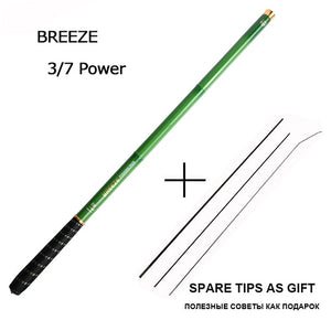 Goture GOLDLITE 3.6-7.2M Carbon fiber telescopic fishing rods for stream fishing, 1 Rod+3 Tips