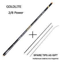 Load image into Gallery viewer, Goture GOLDLITE 3.6-7.2M Carbon fiber telescopic fishing rods for stream fishing, 1 Rod+3 Tips