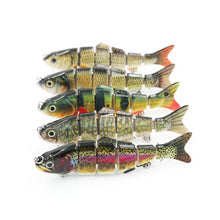 Load image into Gallery viewer, Lifelike 6-segment Artificial Fishing Lure