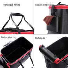 Load image into Gallery viewer, Portable Live Bait Foldable Fishing Bucket