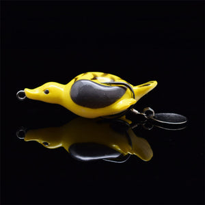 1PC Sinking Soft Duck Fishing Lure, Artificial Bait 11.7g 65mm That Wobbles.