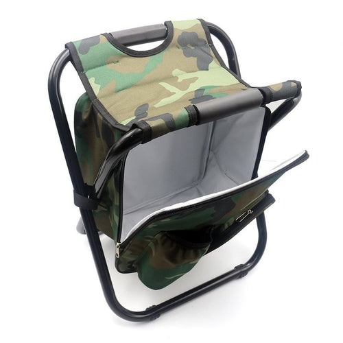 Backpack Folding Fishing Chair With Cooler Built In