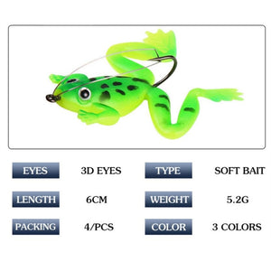 Frog Fishing Lure With Hook