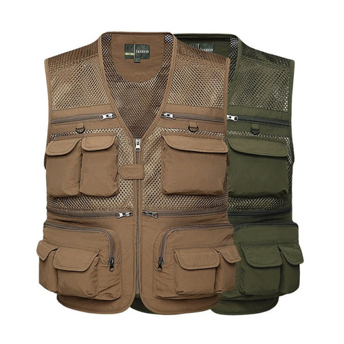 Multi-pockets Fishing Vest. Breathable And Quick Dry Mesh