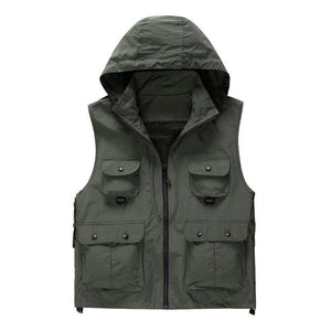Fast Drying, Hooded and Sleeveless Fishing Vest