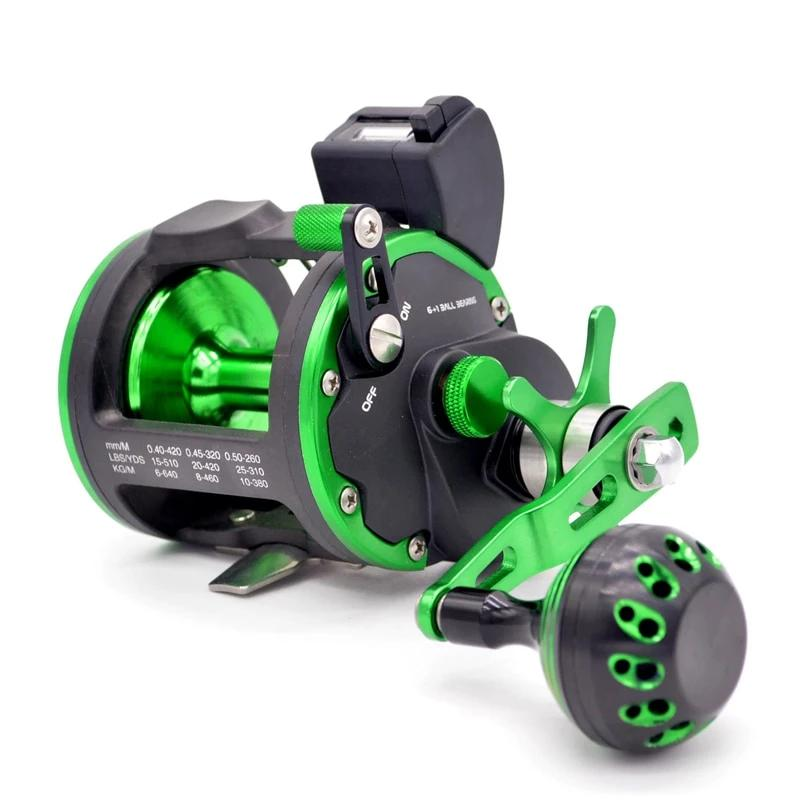 Deep Sea Fishing Reel With Line Counter 15KG Drag Power