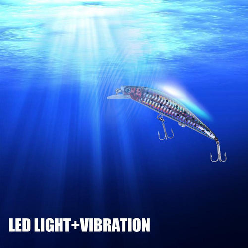 LED RECHARGEABLE FLASHING and VIBRATING Fishing Lures! A must have!