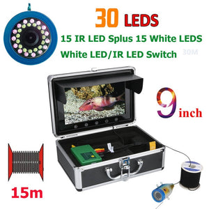 9 Inch Screen Fish Finder Underwater Fishing Camera In 3 Cable Lengths To Choose From