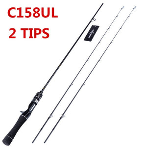 Flexible UL spinning rod 1.58m 1.8m 0.8-5g