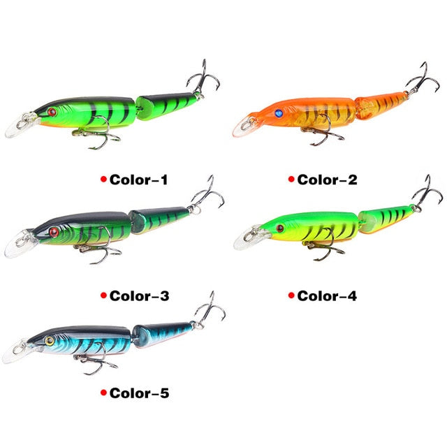 Crazy Lure 5-Pc set 105mm 9g 2 Segments Fishing Lures