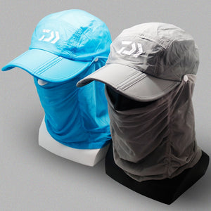 Daiwa Fishing Hat With UV Protection Face And Neck Cover