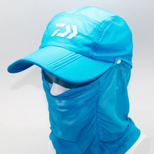 Load image into Gallery viewer, Daiwa Fishing Hat With UV Protection Face And Neck Cover