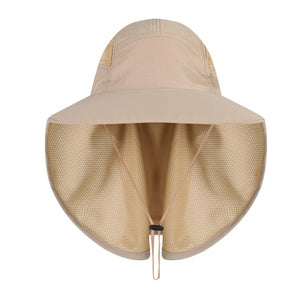 Outdoor Sport Fishing Visor Hat UV Protection Face Neck Cover