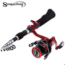 Load image into Gallery viewer, Spinning Fishing Rod with BD2000 Reel Set Olta 1.65m Carbon Fishing Combo
